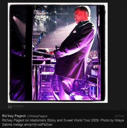 Madonna - MDNA Tour: Musician Ric'key Pageot (Keyboards and Upright Piano)