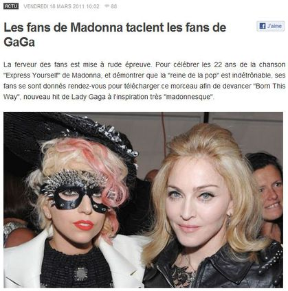 Madonna Fans tackle Lady Gaga Fans