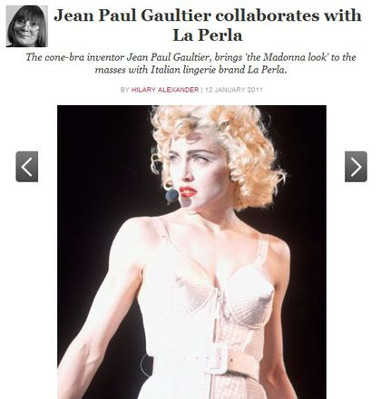 Gaultier brings 'the Madonna look' to the masses with Italian La Perla