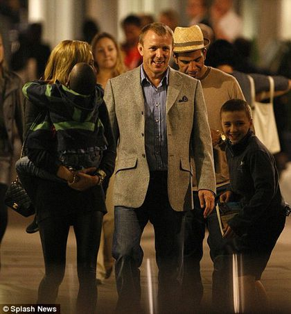 Guy Ritchie and Jacqui Ainsley with Madonna's children in London