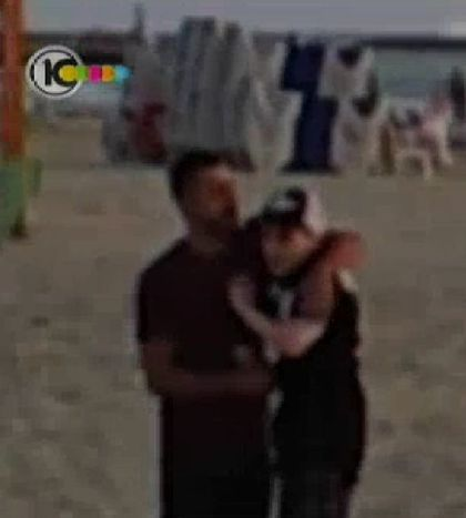 Madonna and Guy Oseary on the beach in Tel Aviv, Israel