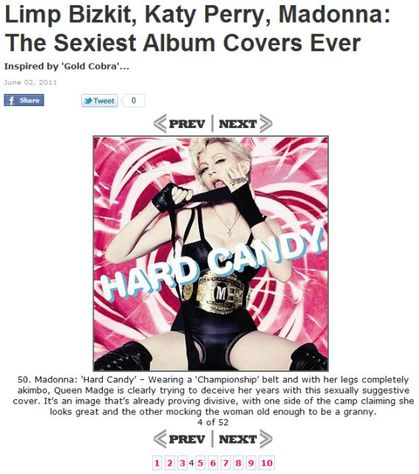 The Sexiest Album Covers Ever: Madonna's ''Hard Candy''
