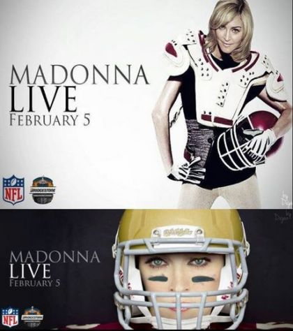 Madonna at Super Bowl: The Poster
