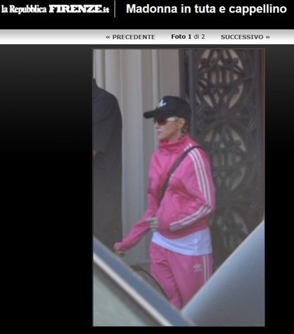 Madonna - MDNA Tour: Madonna going to stadium in Florence, Italy (photos + video)