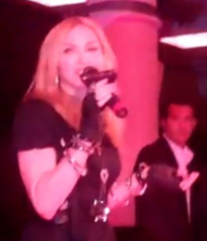 Video: Madonna talks inside Macy's at Material Girl Dance Party