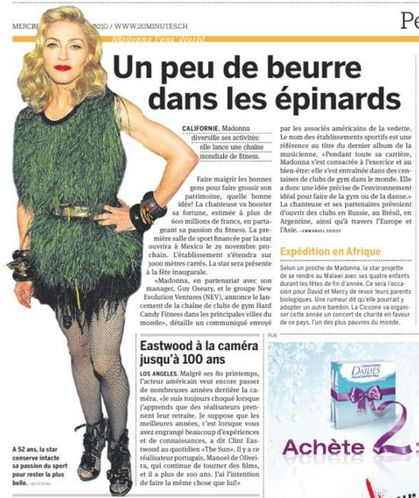Madonna Hard Candy Fitness: Swiss press