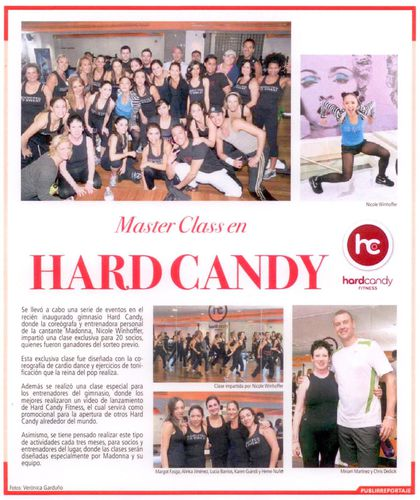 Madonna's personal trainer Nicole Winhoffer at Hard Candy Fitness