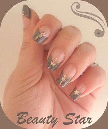 nail art marron glacé