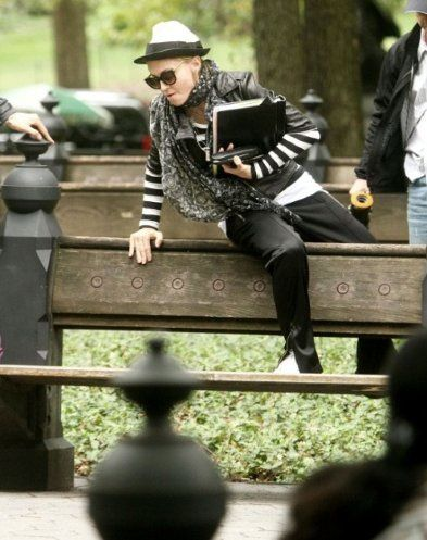 Madonna on the set of ''W.E.'' in Central Park, NY - Sept. 17, 2010
