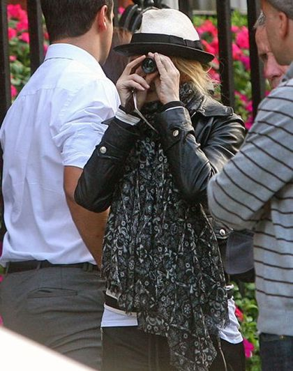 Madonna on the set of ''W.E.'' in London - August 8, 2010