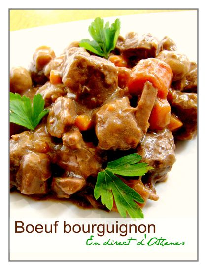recette du terroir francais le boeuf bourguignon en direct d 39 ath nes. Black Bedroom Furniture Sets. Home Design Ideas