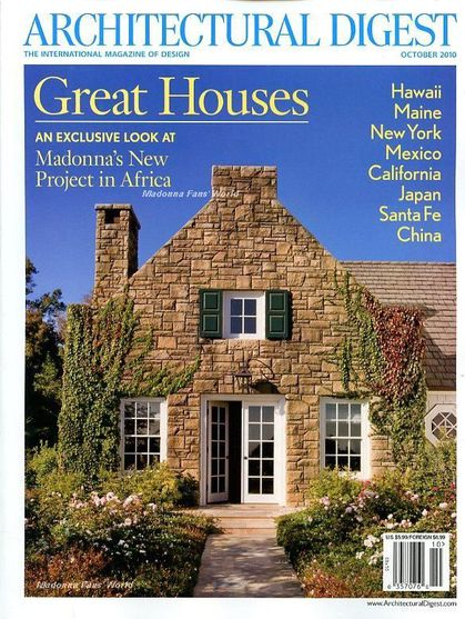 Madonna's New Project in Africa in ''Architectural Digest'' - Oct. 2010