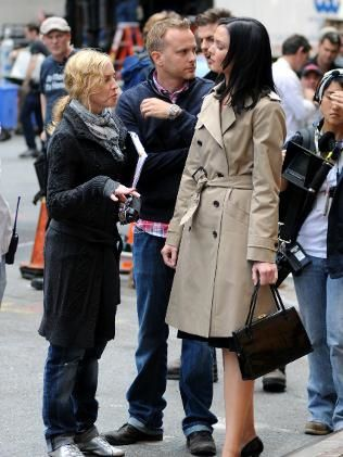 Madonna and Abbie Cornish on the set of ''W.E.''