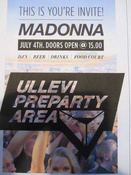 Madonna - MDNA Tour: Fans report from the show in Gothenburg, Sweden - July 04, 2012