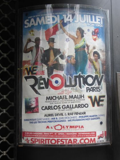 Madonna - MDNA Tour: MDNA producer in ''We Are Revolution'' show at Olympia in Paris