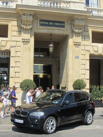 Madonna - MDNA Tour: Madonna leaving Crillon hotel for L'Olympia in Paris