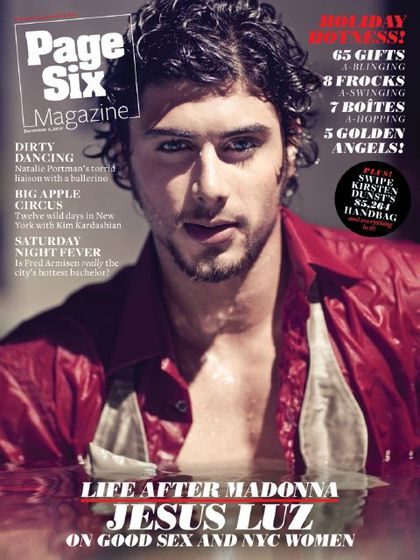Jesus Luz on the cover of ''Page Six Magazine'': Life After Madonna