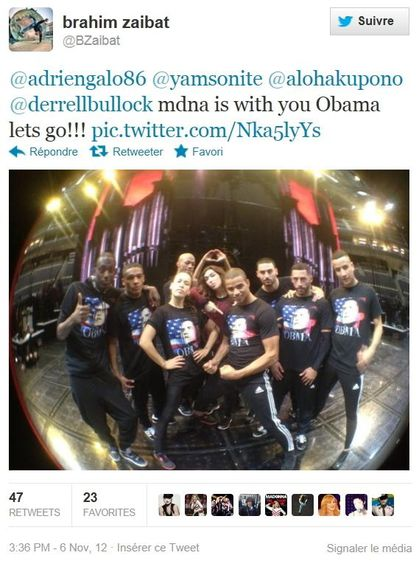 Madonna - MDNA Tour: MDNA for OBMA - Election Night 2012 - Madonna supports Barack Obama