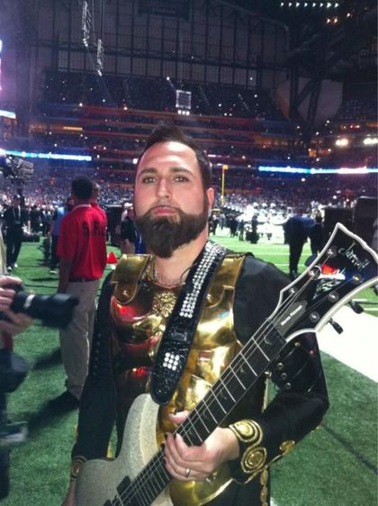Monte Pittman's guitar signed by Madonna for the Dream Foundation auction