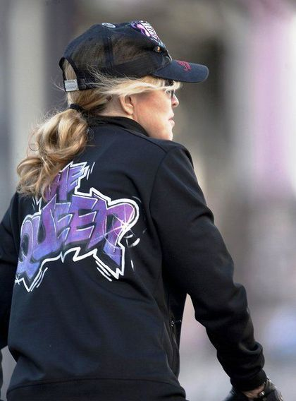 The Queen Madonna riding her bike in London - April 9, 2011