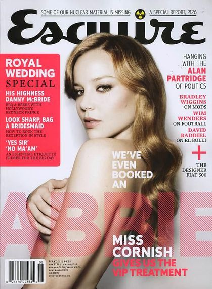Abbie Cornish nude on the cover of ''Esquire'' - May 2011