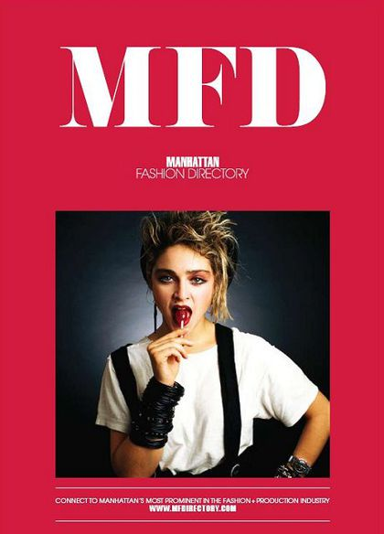 Madonna on the cover of ''MFD''