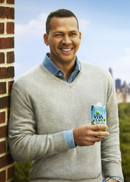 Alex Rodriguez in ads for Madonna's Vita Coco this Summer
