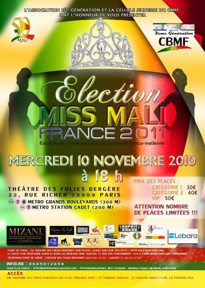 Miss Mali France 2011 Un véritable voyage au cœur de cette double culture !