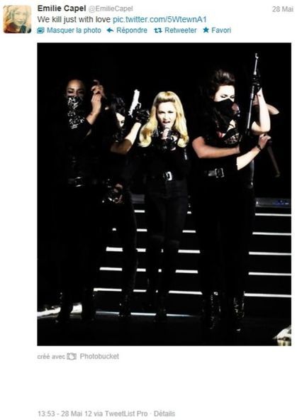 Madonna - MDNA Tour: Dancer Emilie Capel