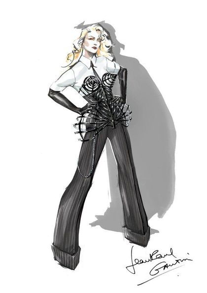 Madonna - MDNA Tour: Jean Paul Gaultier designs new cone bra corset