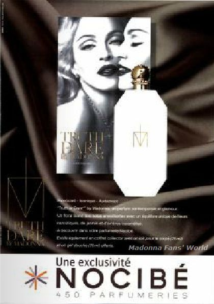 Madonna - ''Truth or Dare'' perfume: French Nocibé ad