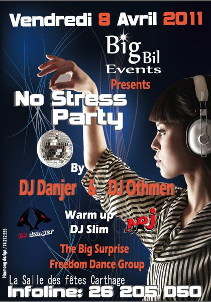 BigBil Events presents No stress Party le 8 avril à Carthage