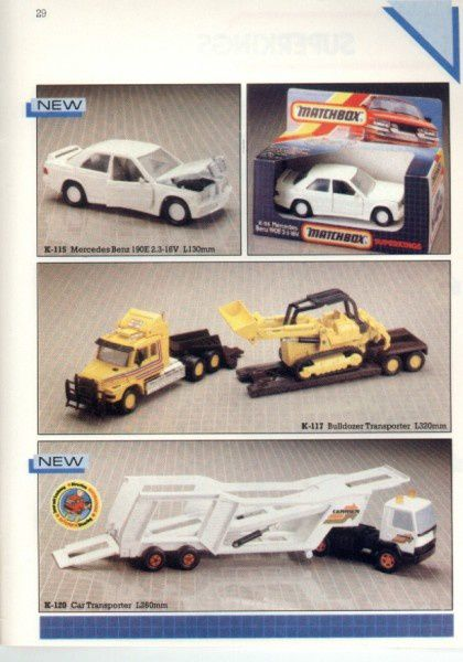 catalogue matchbox 1986 p29