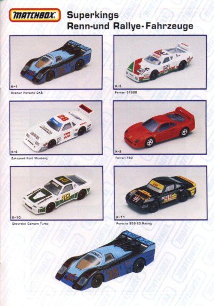catalogue matchbox annee 1992 s41