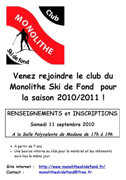 Inscriptions MSF