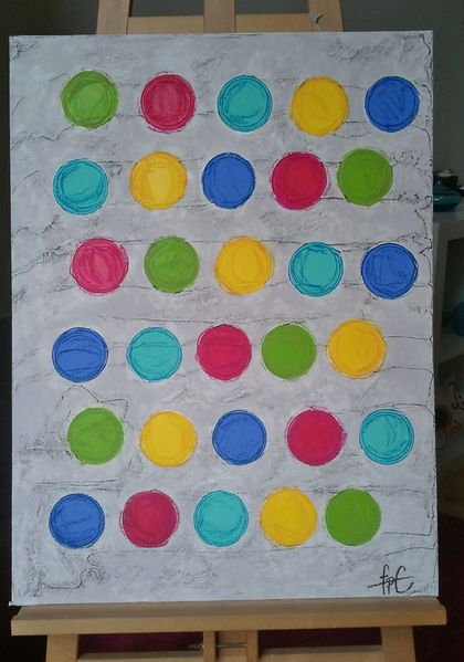 30 colourful circles (chevalet)