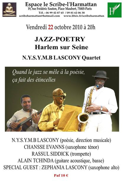 JAZZ-POETRY -Harlem sur Seine-