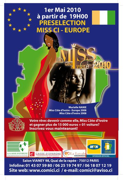 MISS Côte d'Ivoire Europe seconde édition 2010