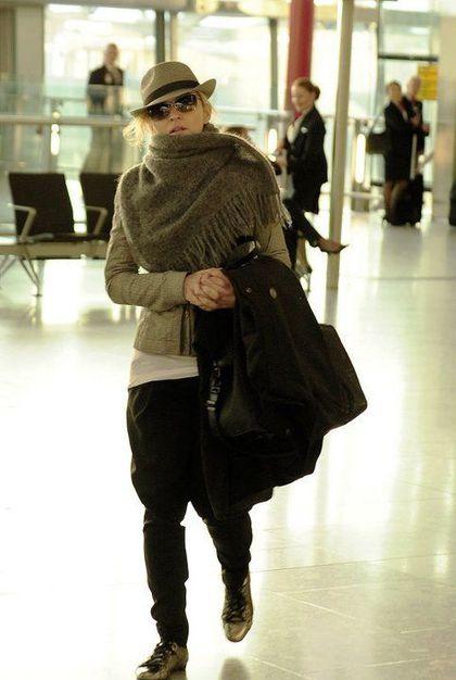 Madonna at Heathrow airport leaving London - April 16, 2011