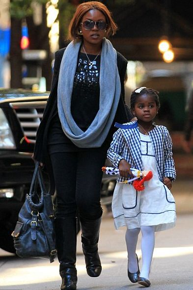Madonna with her kids at the Kabbalah centre in New York, Oct. 2, 2010