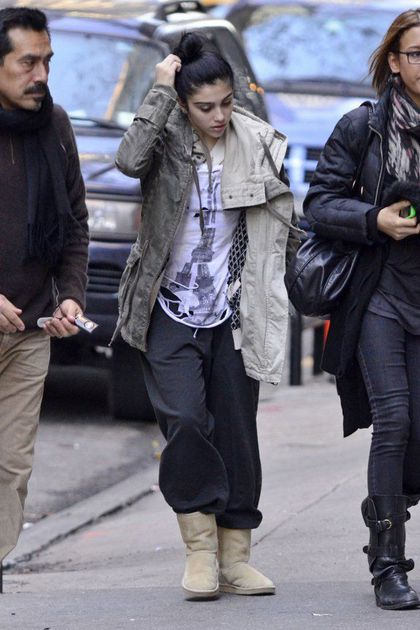 Lourdes Leon Attends Kabbalah Services in New York - December 18, 2010