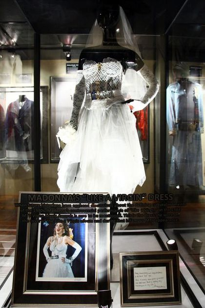 Tour dates of Hard Rock Cafe exhibition featuring Madonna's LAV dress