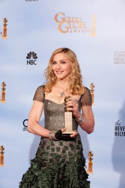 Madonna at 2012 Golden Globe Awards: Official Winner Portrait