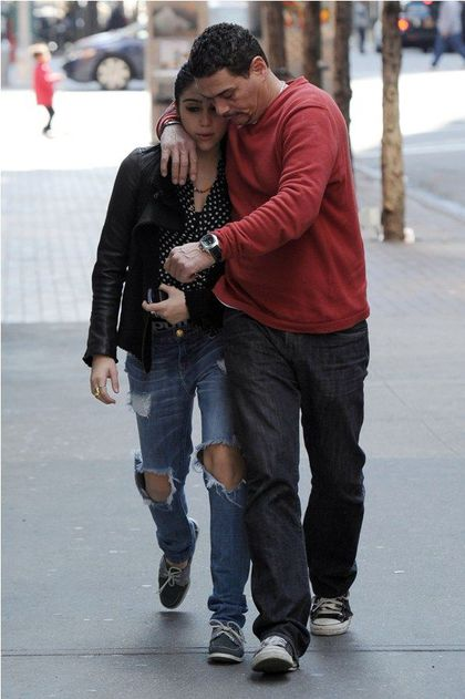 Madonna's daughter Lourdes arriving with her driver at Kabbalah Centre