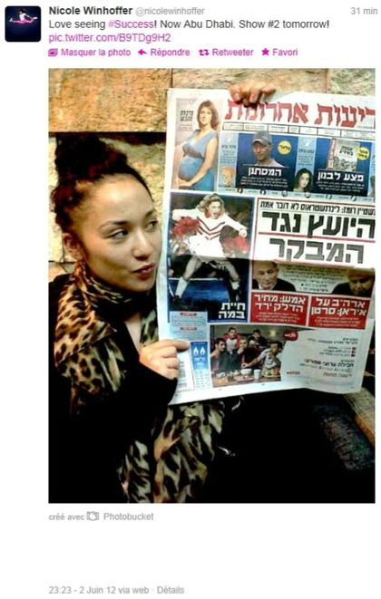 Madonna - MDNA Tour: On the cover of Israeli newspaper