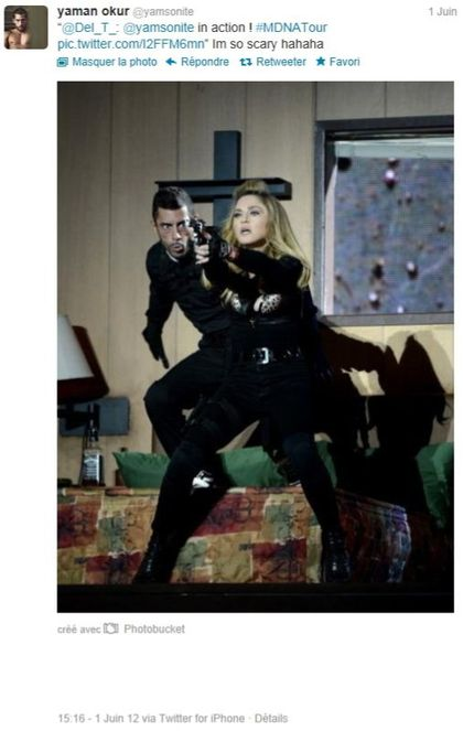 Madonna - MDNA Tour: Dancer Yaman Okur