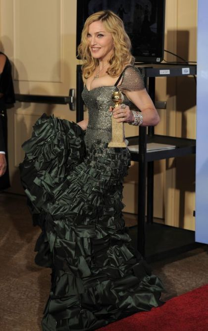 Madonna at 2012 Golden Globe Awards: Winners Photocall