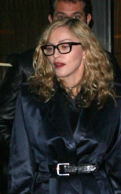 Volkswagen/MoMA event: Madonna leaving Museum of Modern Art, New York