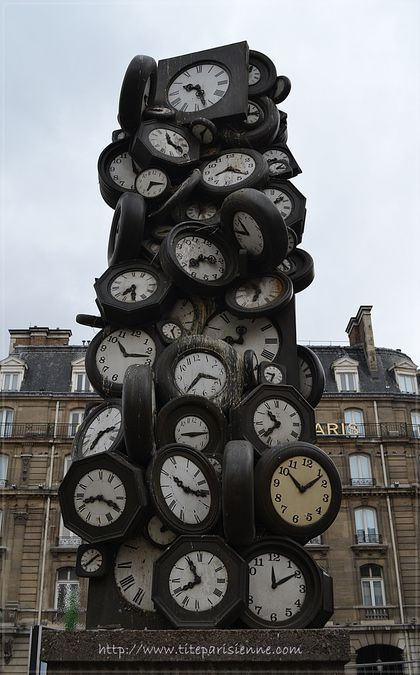 1 Sculpture horloges Saint Lazare 3