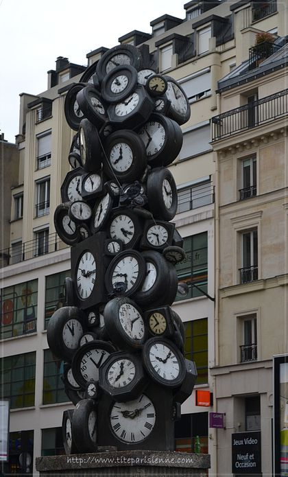 1 Sculpture horloges Saint Lazare 1